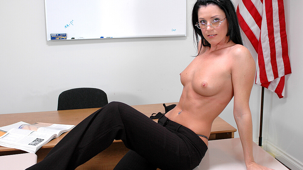 India Summer fucking in the classroom with her small tits