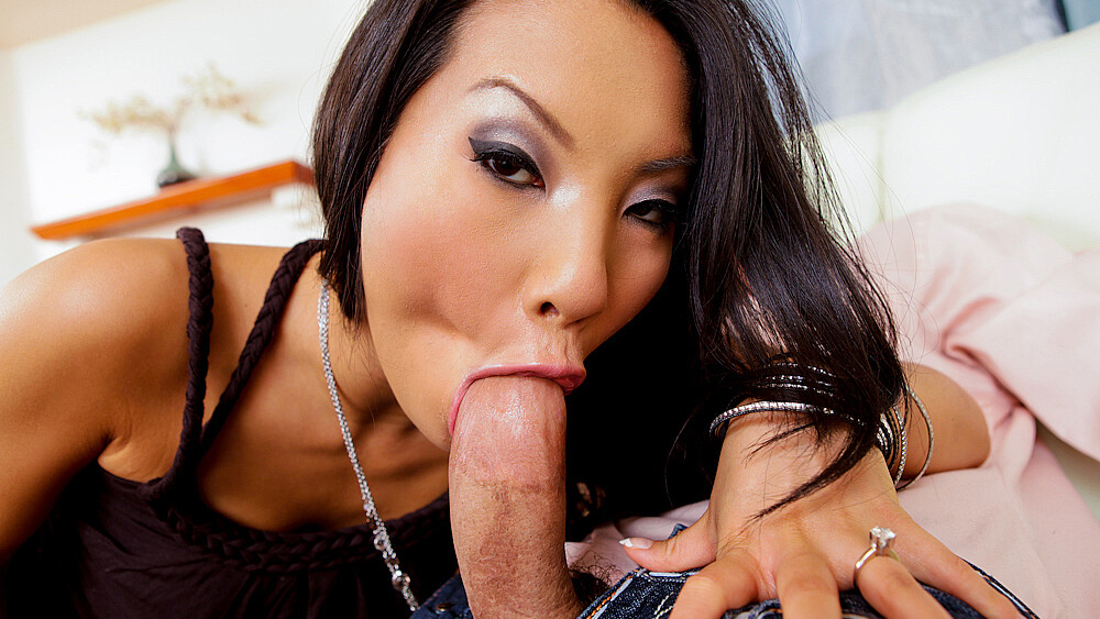 Friend Asa Akira fucking in the couch with her tattoos
