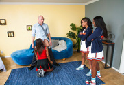 Skin Diamond , Leilani Leeane, Ana Foxxx & Johnny Sins in 2 Chicks Same Time - Sex Position 1