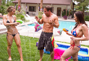 Nicole Aniston, Kendra Lust & Chad White in 2 Chicks Same Time - Sex Position 1