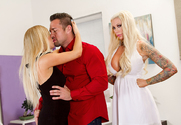 Tasha Reign, Lolly Ink  & Johnny Castle in 2 Chicks Same Time - Sex Position 1