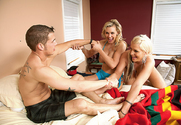 Tanya Tate, Sadie Swede & Chris Johnson in 2 Chicks Same Time - Sex Position 1