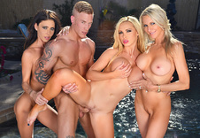 Watch Emma Starr, Jessica Jaymes & Nikki Benz porn videos