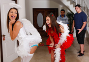 Celeste Star & Gracie Glam in Lesbian Girl on Girl story pic