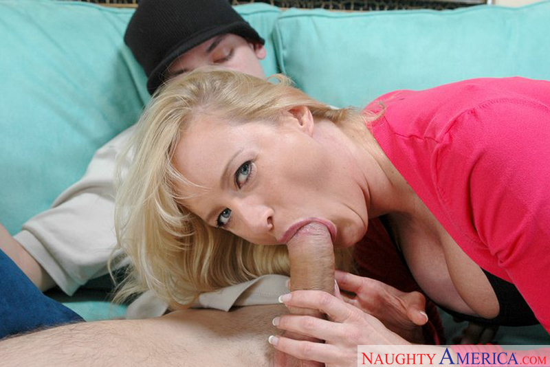 ! Mom Makes Son Cum For The First Time!