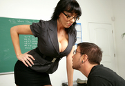 Alia Janine & Dane Cross in My First Sex Teacher - Sex Position 1