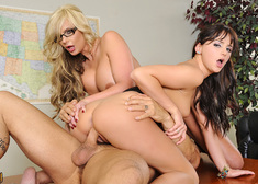 Phoenix Marie, Hope Howell & Derrick Pierce in My First Sex Teacher - Centerfold