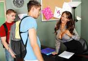 Joslyn James & Lance Strong & Zane in My First Sex Teacher story pic