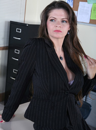 Professor Porn Video with Big Fake Tits and Brunette scenes