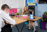 Stacey Saran & Sam Bourne in My First Sex Teacher story pic
