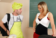 Tanya Tate & James Deen in My First Sex Teacher story pic