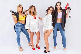 August Ames, Karlee Grey, Keisha Grey & Layla London - Sex Position 1