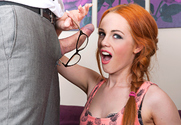 Ella Hughes & Pascal White in Naughty Bookworms story pic