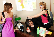 Lexi Belle, Eve Nicholson & Otto Bauer in Naughty Bookworms - Sex Position 1