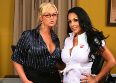 Nina Mercedez & Abbey Brooks in Naughty Office - Centerfold