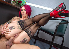 Anna Bell Peaks  & Johnny Castle in Naughty Office - Centerfold