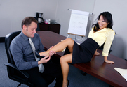 Asa Akira & Alec Knight in Naughty Office - Sex Position 1