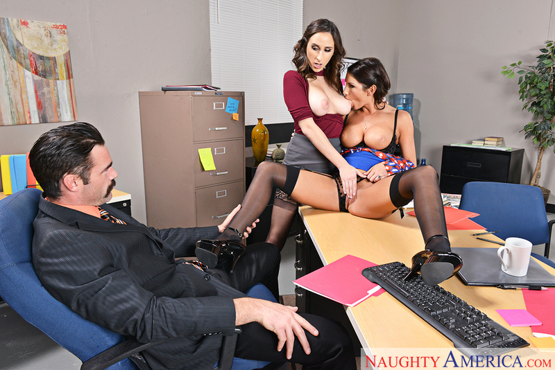 Naughtyamerica – ASHLEY ADAMS & AUGUST AMES & CHARLES DERA Site: Naughty Office
