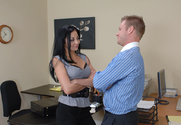 Audrey Bitoni & Jeremey Holmes in Naughty Office - Sex Position 1