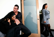 Sativa Rose & Lisa Ann & Billy Glide in Naughty Office story pic