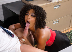 Misty Stone & Xander Corvus in Naughty Office - Centerfold