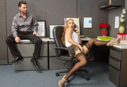Nicole Aniston & Seth Gamble in Naughty Office - Sex Position 1