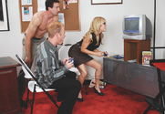 Sindee Jennings, Jenner & Jordan Ash in Naughty Office - Sex Position 1