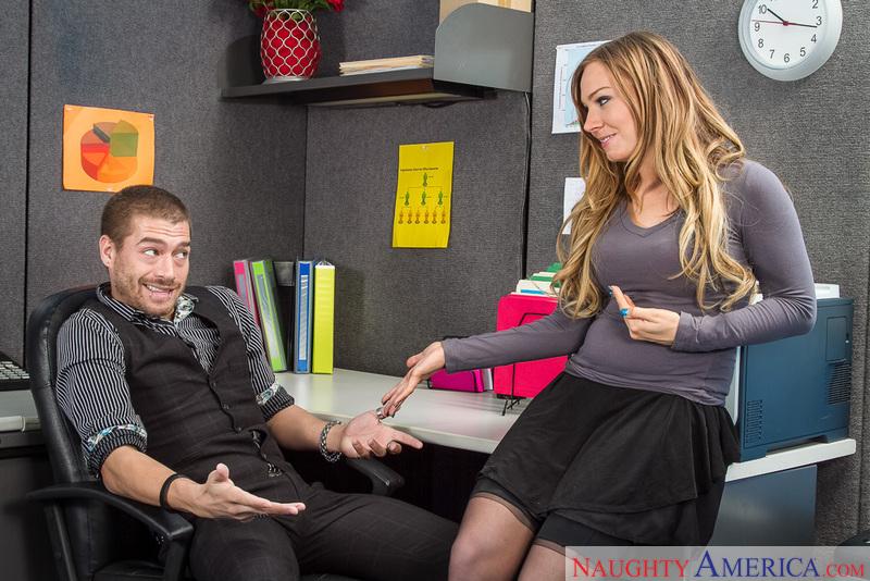 Tiff Bannister  & Xander Corvus In Naughty Office