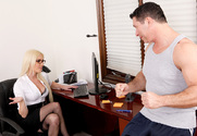 Victoria White & John Strong in Naughty Office - Sex Position 1