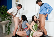 Rayveness, Alia Janine, Ramon Nomar & Ralph Long in Seduced by a Cougar - Sex Position 1