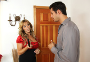 Amber Lynn Bach & Giovanni Francesco in Seduced by a cougar - Sex Position 1
