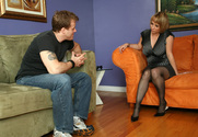Sophia Mounds & Seth Dickens in Seduced by a Cougar - Sex Position 1