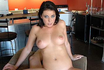 Penny Flame fucking in the living room with her piercings - Sex Position 3