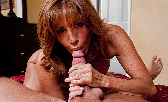 Mature Tara Holiday fucking in the bedroom with her tits - Sex Position #6