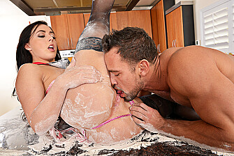 Whitney Wright fucking in the kitchen with her small tits - Sex Position 2