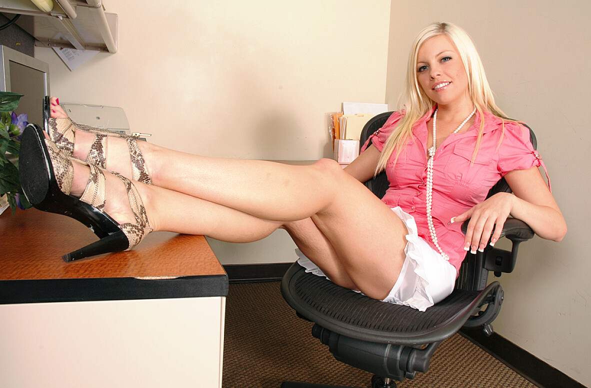 Watch Britney Amber video in Live Naughty Secretary