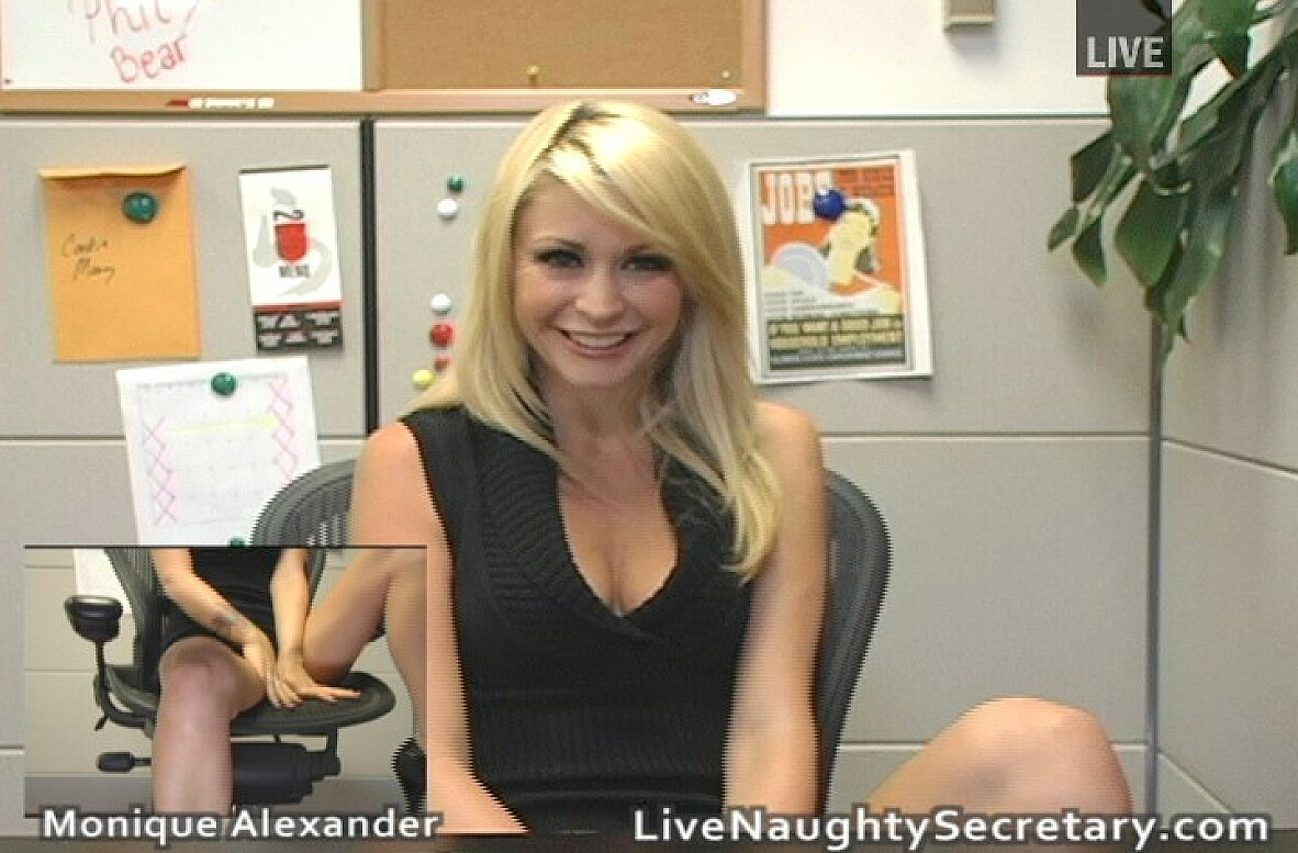 Watch Monique Alexander video in Live Naughty Secretary