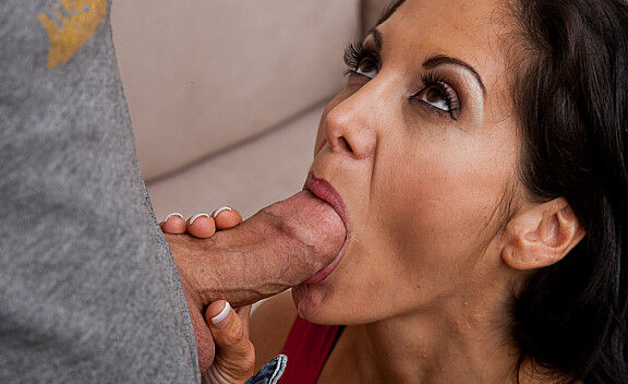 Ava Addams fucking in the couch with her big natural tits - Sex Position #5