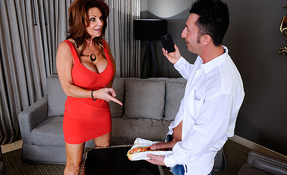 Deauxma fucking in the couch with her big tits - Sex Position #1