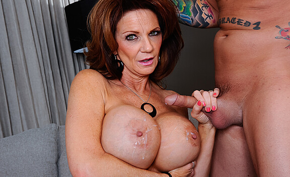 Deauxma fucking in the couch with her big tits - Sex Position #11