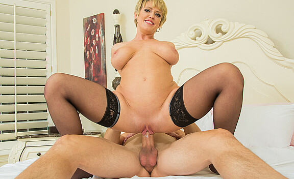 Dee Williams fucking in the bedroom with her tits - Sex Position #7