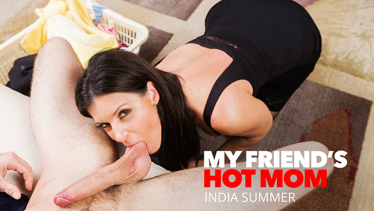 India Summer shows her sons friend how to fuck a MILF