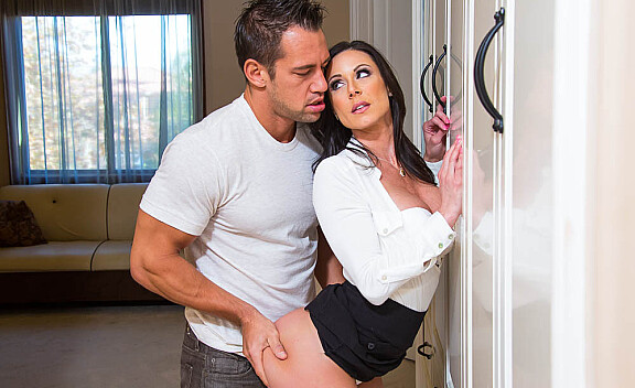 Kendra Lust fucking in the bedroom with her big tits - Sex Position #2