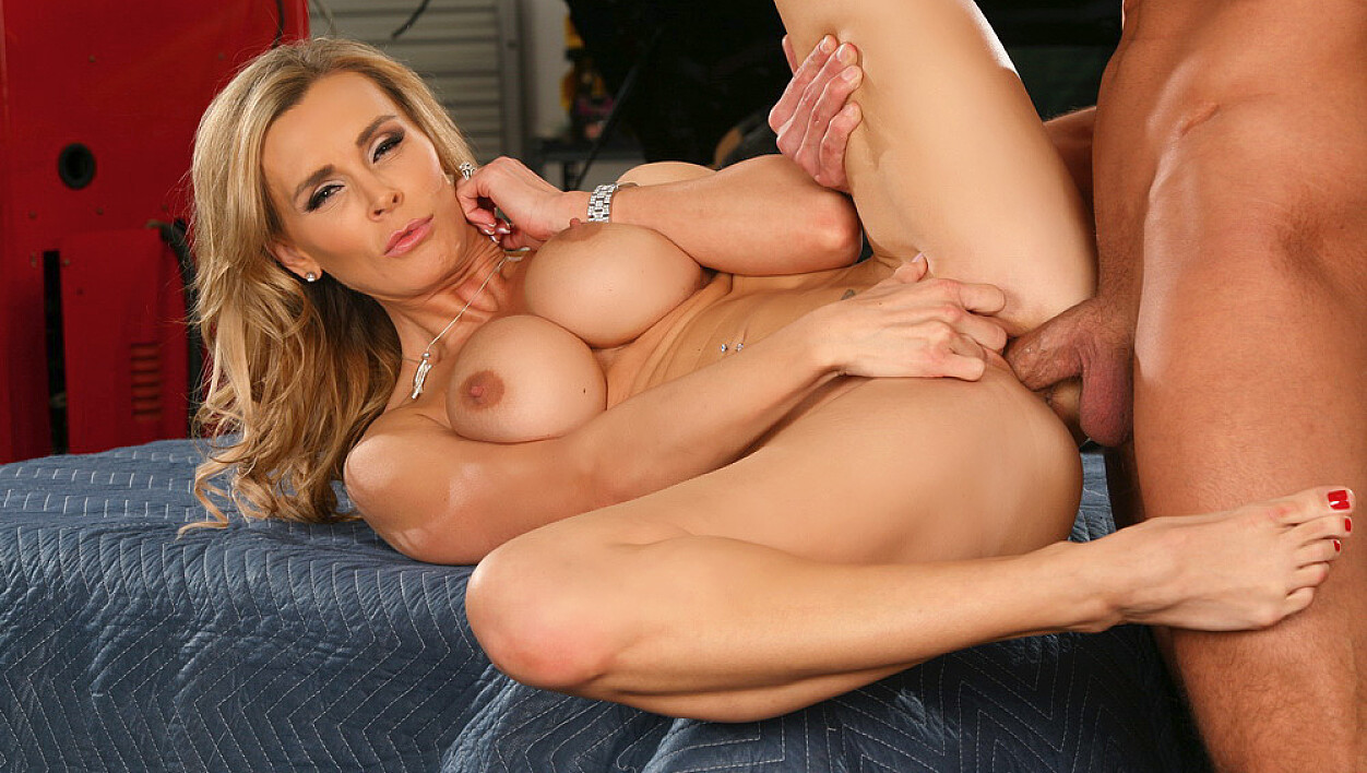 Tanya Tate fucking in the garage with her piercings