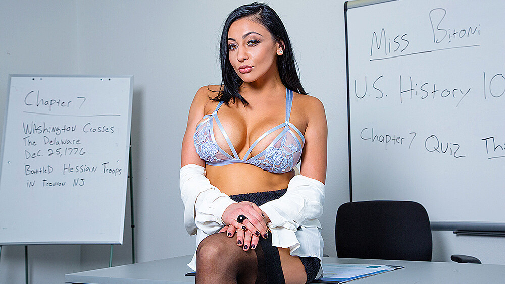 Click here to play Audrey Bitoni fucking in the classroom with her tits VR porn