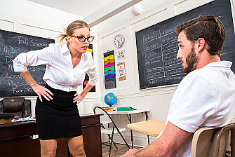 Professor Amber Takes Her Students Big Cock - Sex Position 1