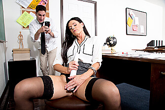 India Summer fucking in the classroom with her hairy bush - Sex Position 1