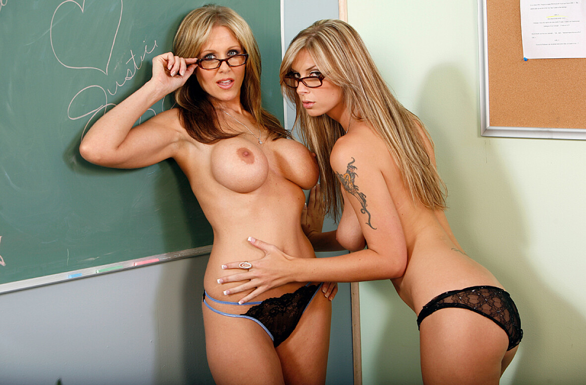 Watch Brooke Brand, Julia Ann and Justice Young video in My First Sex Teacher