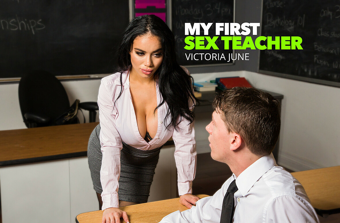 Watch Victoria June and Rion King video in My First Sex Teacher