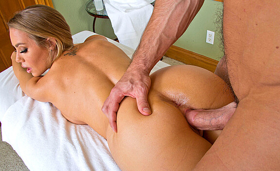 Nicole Aniston fucking in the massage table with her tits - Sex Position #8